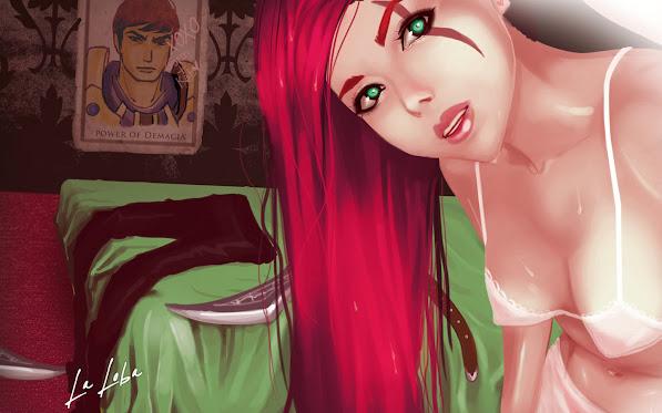 katarina league of legends girl game art