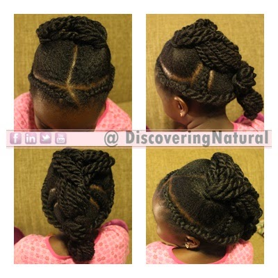 Natural Hair Kids Easy Holiday Hairstyle