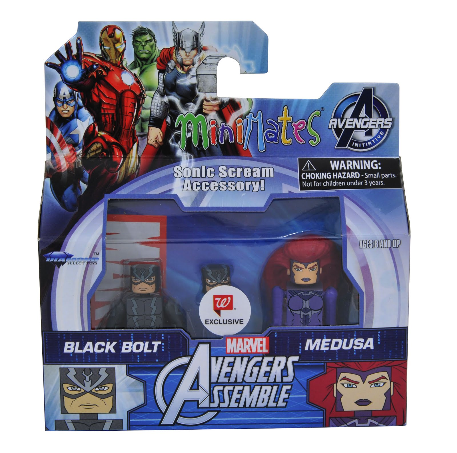 Marvel Minimates Kang Leader Ms Marvel Carnage Hulk Banner Walgreens Wave 5 Set
