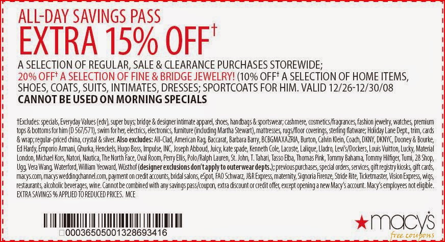 Macys coupon codes 30 off