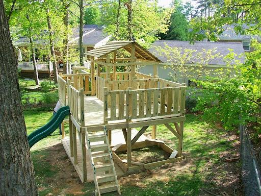 Children\'s playground ideas in the backyard