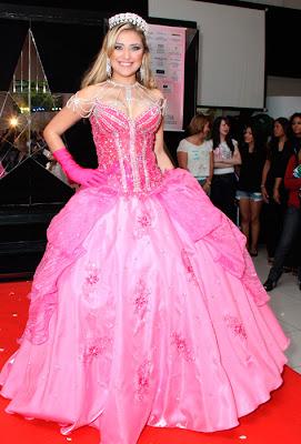 vestido de 15 anos rosa