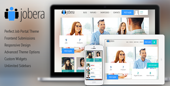 Jobera v1.8 - Themeforest Job Portal WordPress Theme