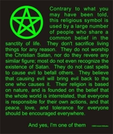 the treatment of wicca by the christian religion For the church fathers, a pagan is essentially a pre-christian and thus   treatment of the revivals of pre-christian religion now taking place in.