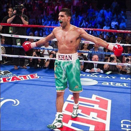 Amir Khan after defeating Joda