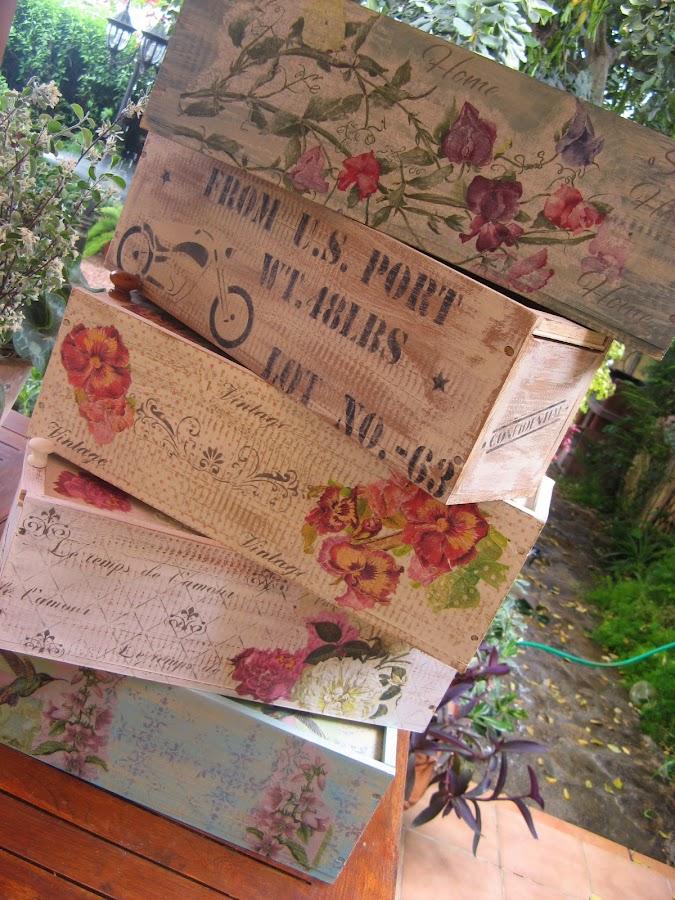 Preciosas ideas para decorar cajas de madera