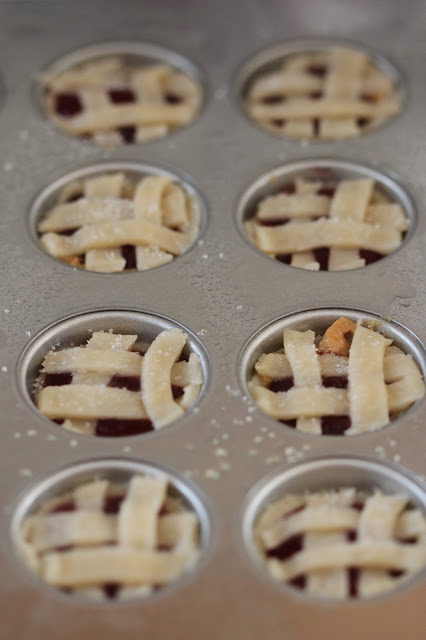 Tortillas and Honey: Peanut Butter and Jelly Baby Lattice Pies