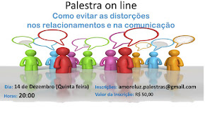 PRÓXIMA PALESTRA ON LINE  14 DE DEZEMBRO