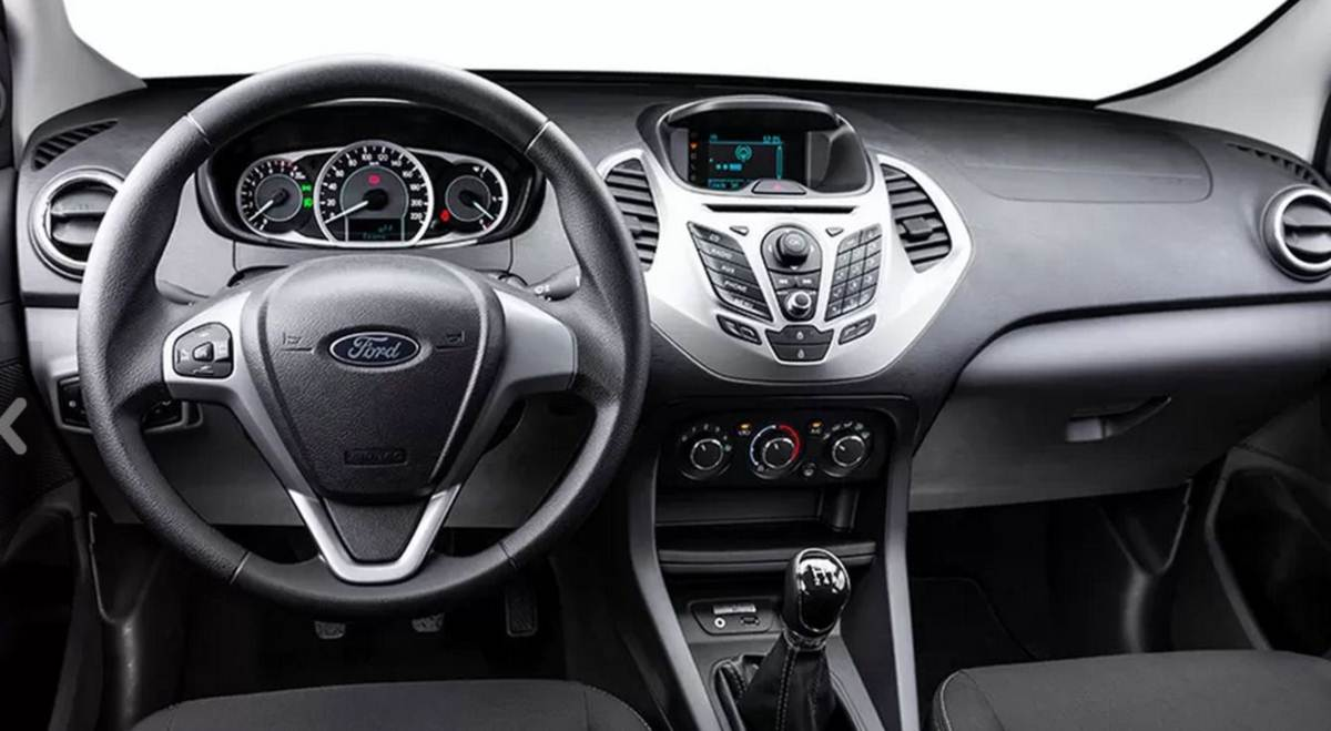 Novo Ford KA+ (Sedã) - interior - painel