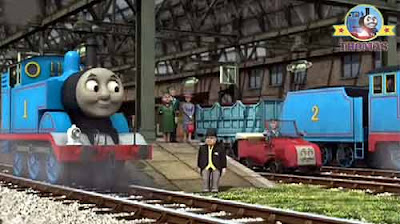 Thomas the train and friends happy birthday Sir the Fat Controller smiled marvelous party surprise