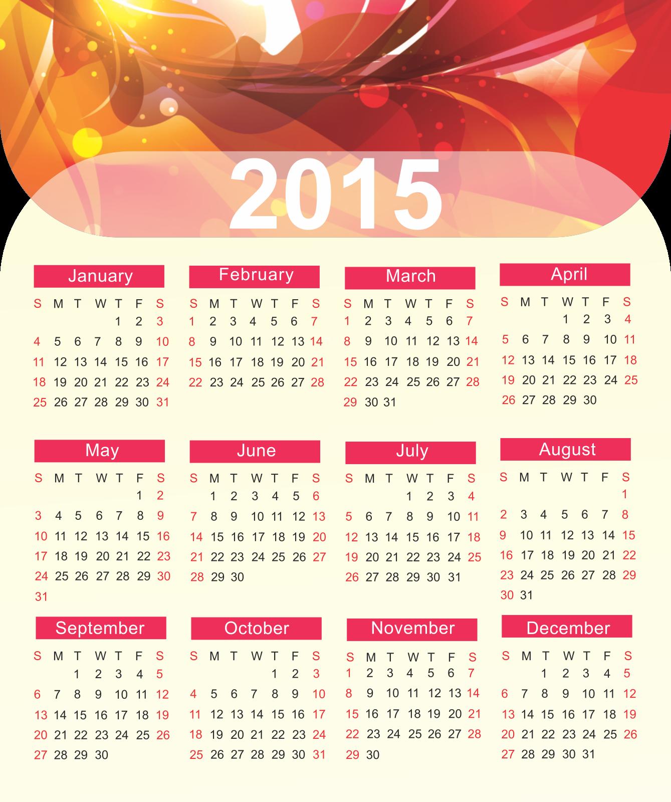 Ảnh nền lịch 2015 đẹp