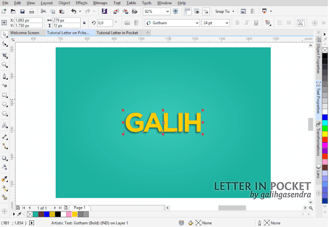 Corel Draw Tutorial Typography