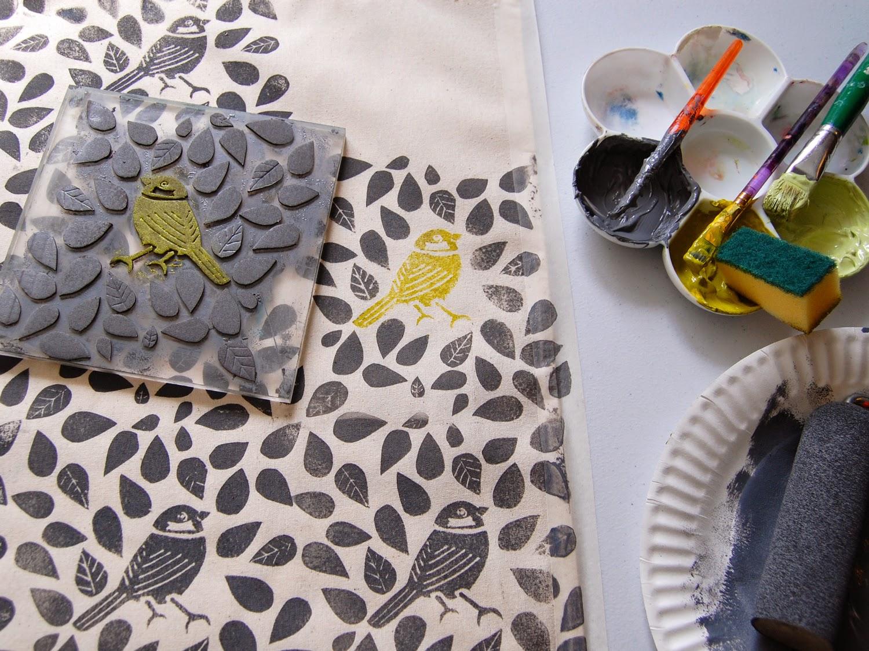 Штампы для ткани своими руками