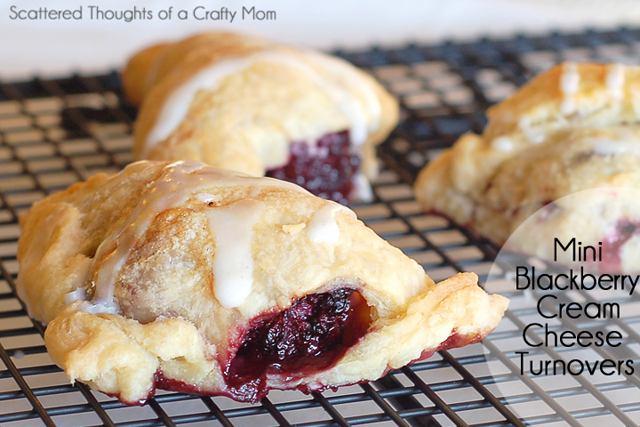 Blackberry and Cream Cheese Mini Turnovers