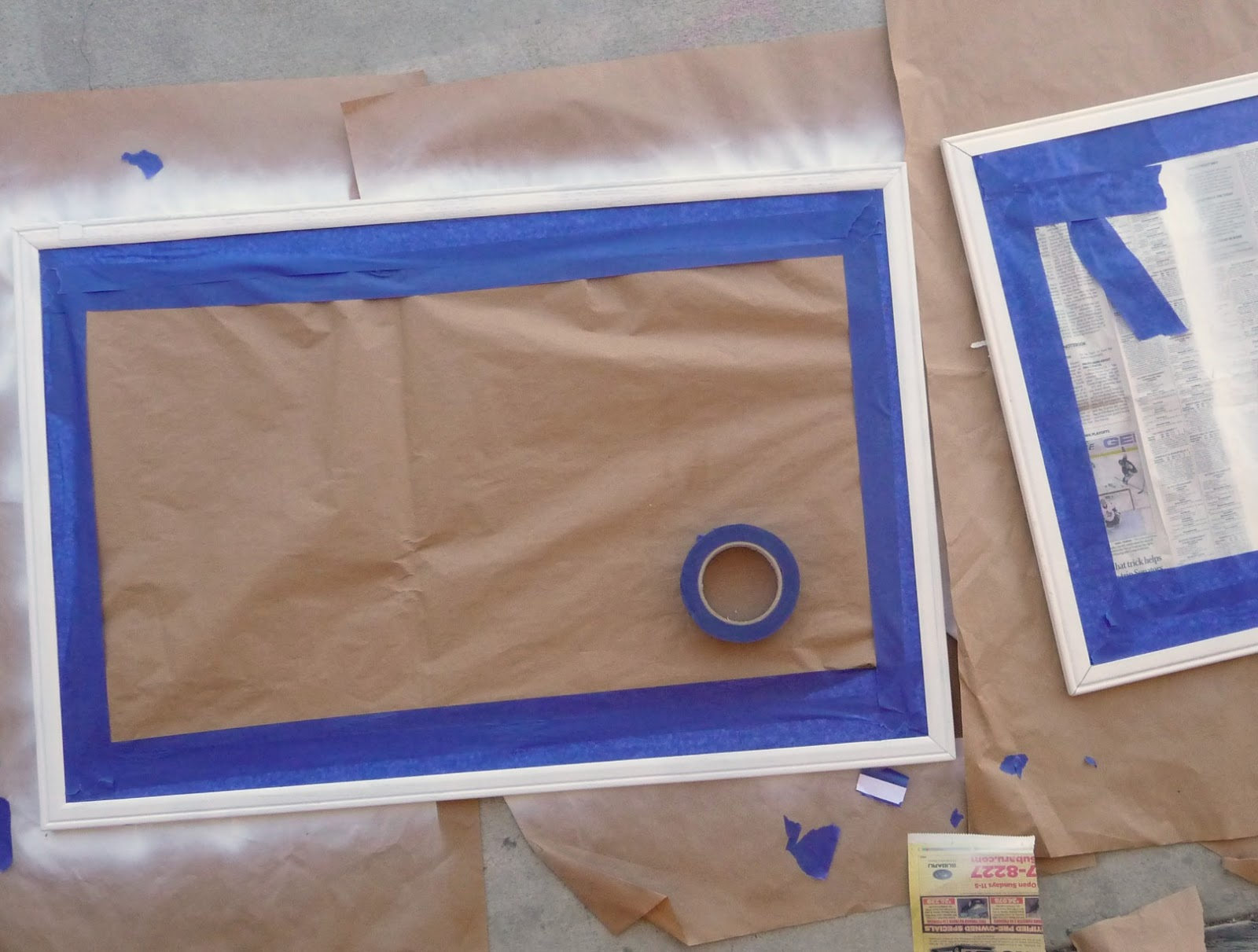 DIY make over an old cord board with spray paint