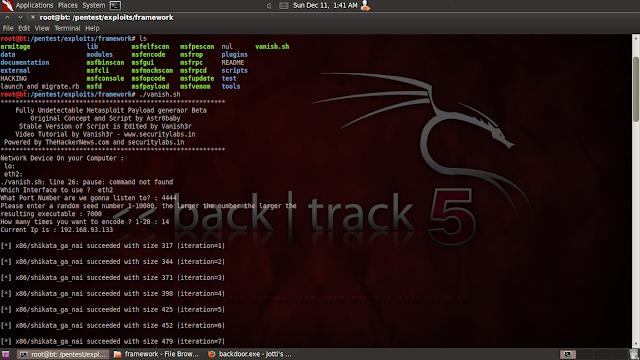 Backdoor FUD generator for Metasploit