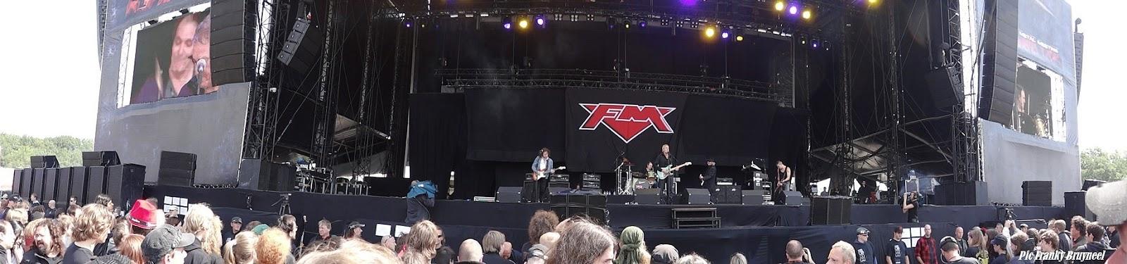 FM live at Graspop 24 June 2011. Photo courtesy of Franky Bruyneel at Rock Report