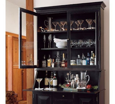 Craigslist furniture repurpose secretary desk into bar