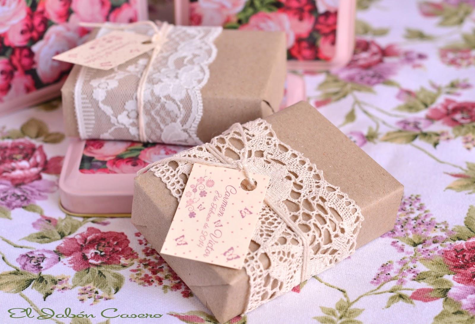 El jab n casero detalles de bodas jabones encajes - Detalles para regalar en boda ...