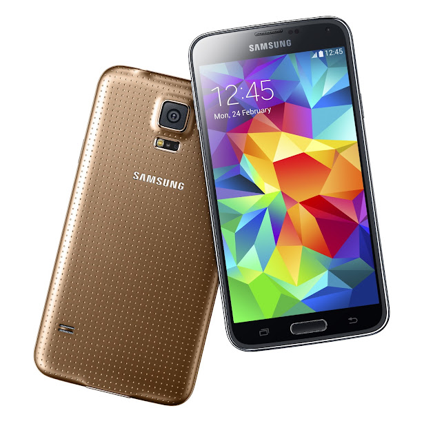 Golden Samsung Galaxy S5