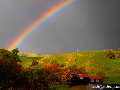 Rainbow in New Zealand