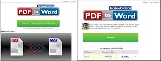 Cara Merubah File PDF ke Word Online melalui Facebook
