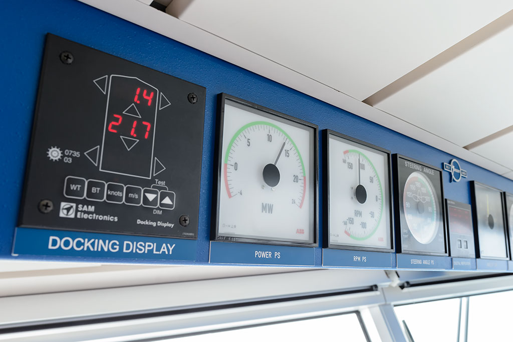 Gauges on the Bridge of the Norwegian Pearl