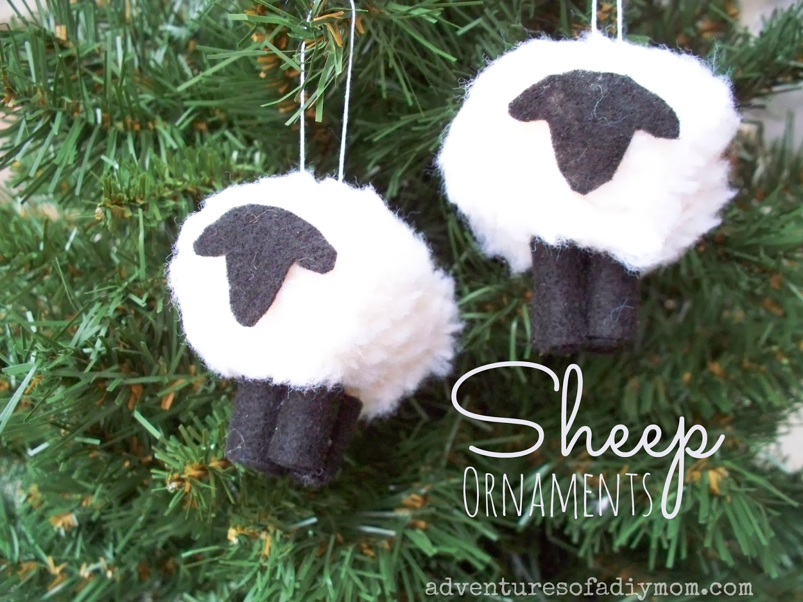 How to make a sheep lamb ornament nativity ornament for Sheep christmas ornament craft