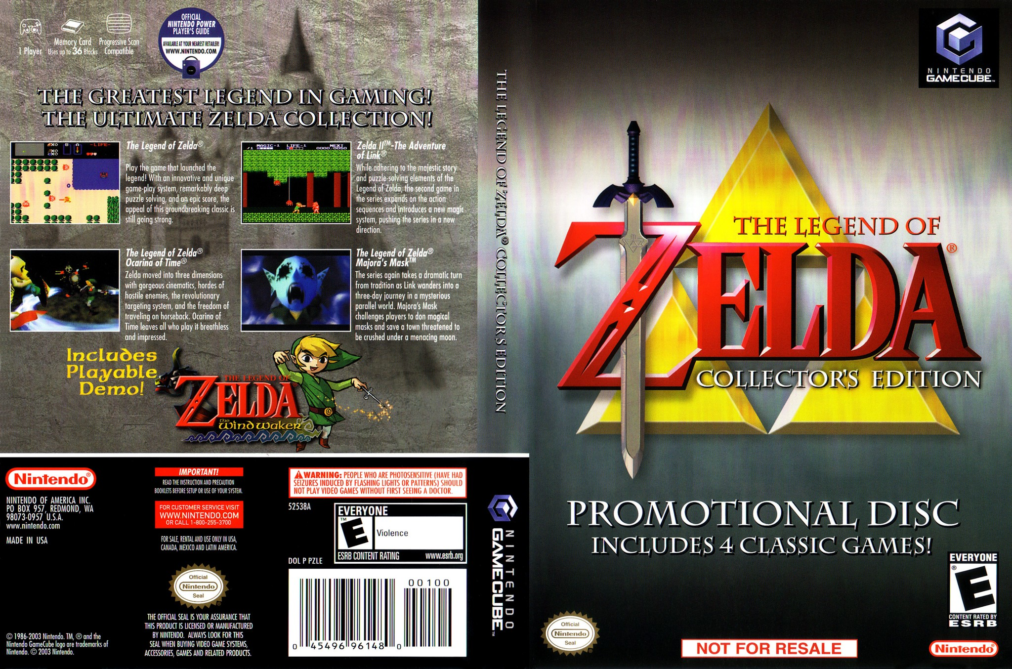 the legend of zelda collector s edition game cube ultra capas