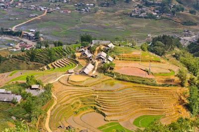 Terrazas de Arróz en el pueblo de Ta-Van, Vietnam. - Valle de Muong Hoa