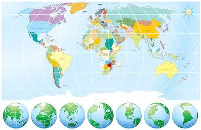 Mapa del mundo para maestros y estudiantes - Mapamundi - Planisferio