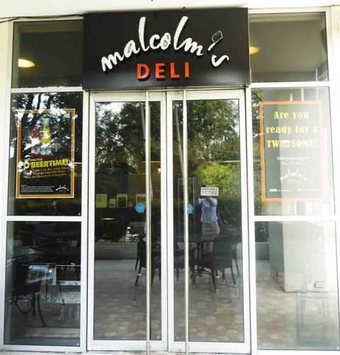Malcolm's Deli entrance