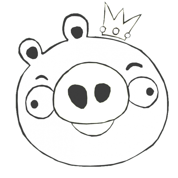 Angry birds pigs coloring coloring pages for Angry bird pig template