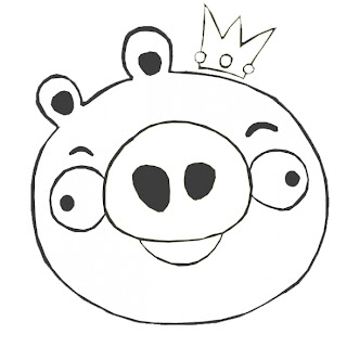 King Pig Coloring Pages Angry Birds