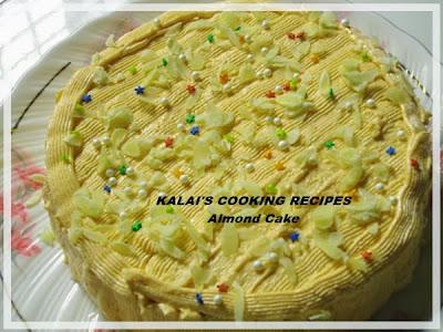 Almond Cake | பாதாம் கேக் | Badam Cake - Christmas - New Year Special Cake