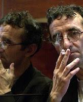 escritor, tabaco, fumando, gafas