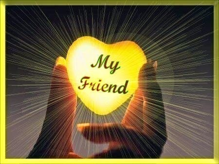friends make your heart glow gold