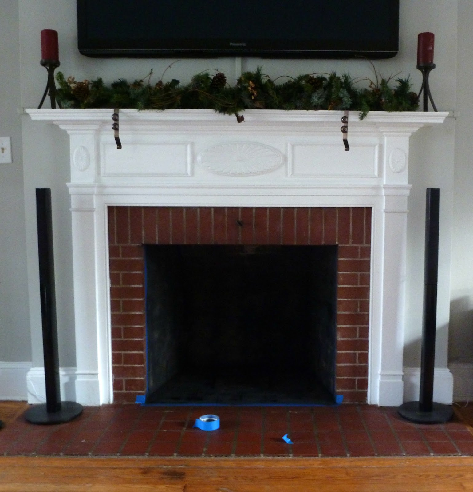 hopelessly ever after whitewashed the fireplace