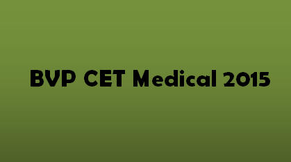 BVP CET Medical 2015 Logo