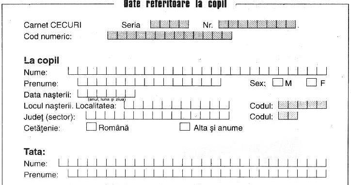 modele acte   contracte   acte necesare  cerere de alocatie de la stat pentru copil