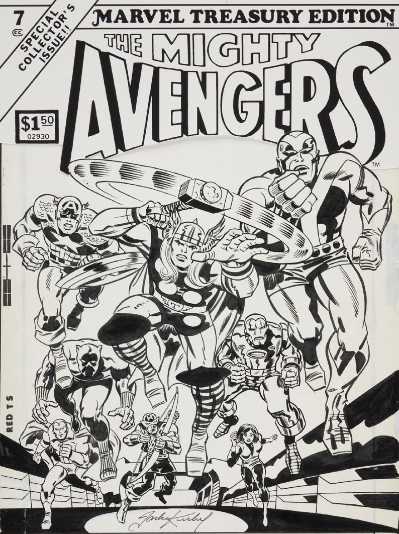 Capns Comics: Some Blackn White Jack Kirby