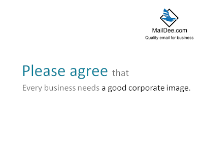 A good corporate image.