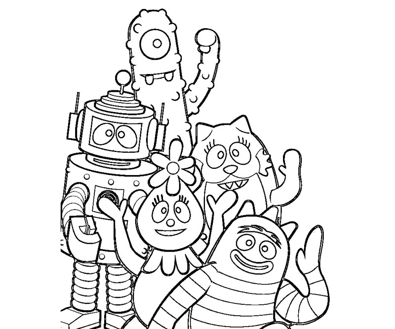 yogabbagabba coloring pages - photo #42