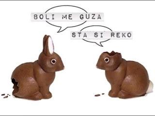 Uskrs čokoladni zečići smiješne slike