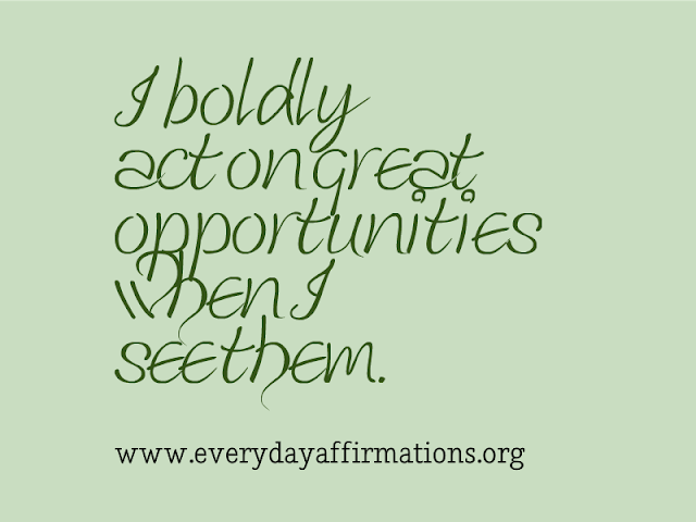 Daily Affirmations - 7 August 2013