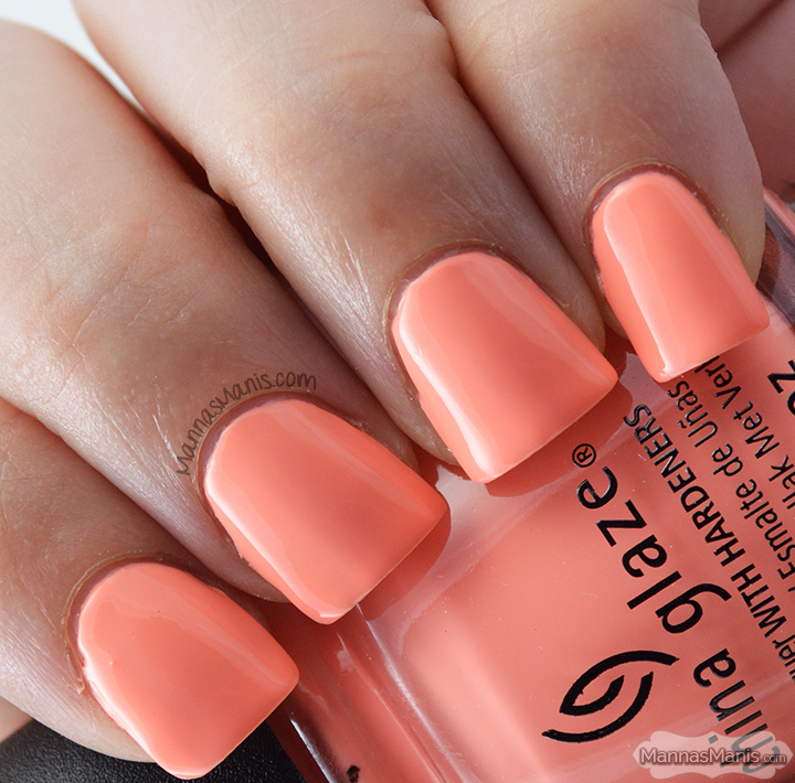China Glaze Road Trip More to Explore, a coral creme nail polish