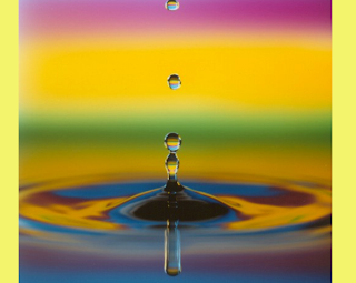 rainbow raindrop from The Spiritual Mechanics of Diabetes blog