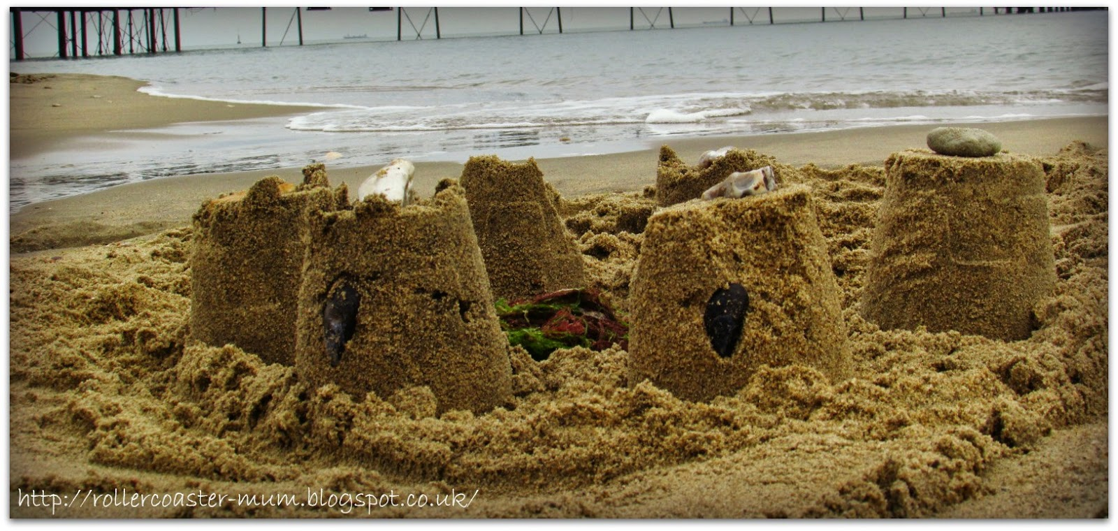 Isle of Wight sandcastle