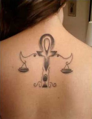 Libra zodiac tattoos for girls above is one of many tattoos which object