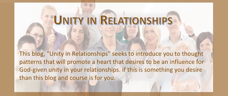 Unity in Relationships